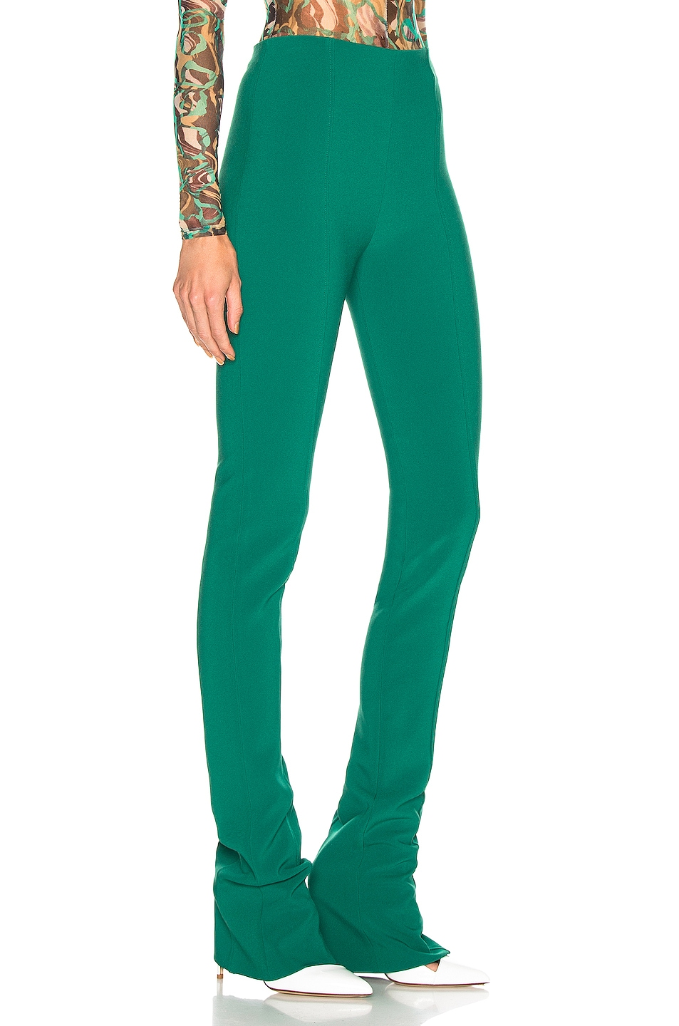 Image 2 of Mugler Skinny Pant in Jade