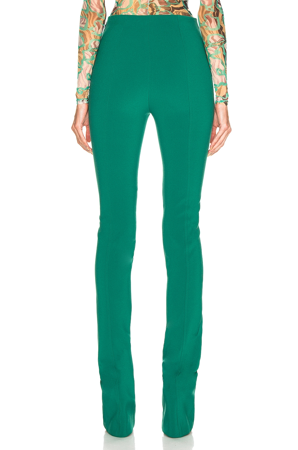 Image 3 of Mugler Skinny Pant in Jade