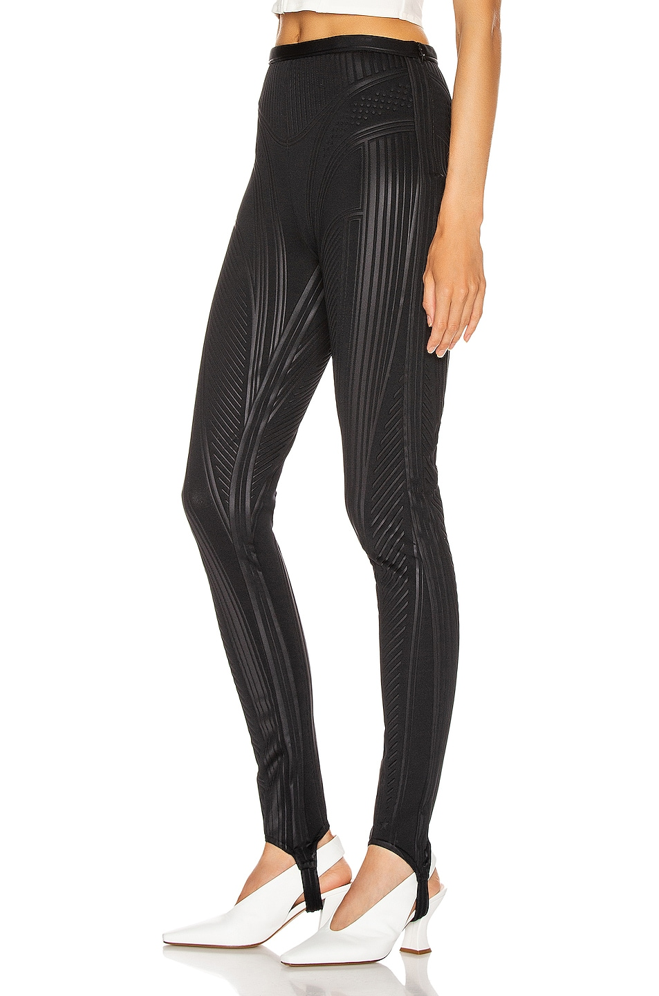 Image 1 of Mugler Embossed Bicycle Pant in Black