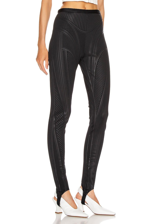 Image 3 of Mugler Embossed Bicycle Pant in Black