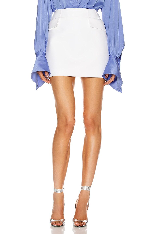 Image 1 of Mugler Flap Mini Skirt in White