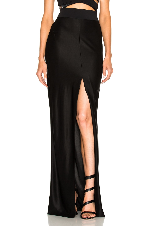 Image 1 of Mugler Luxury Jersey Skirt in Black