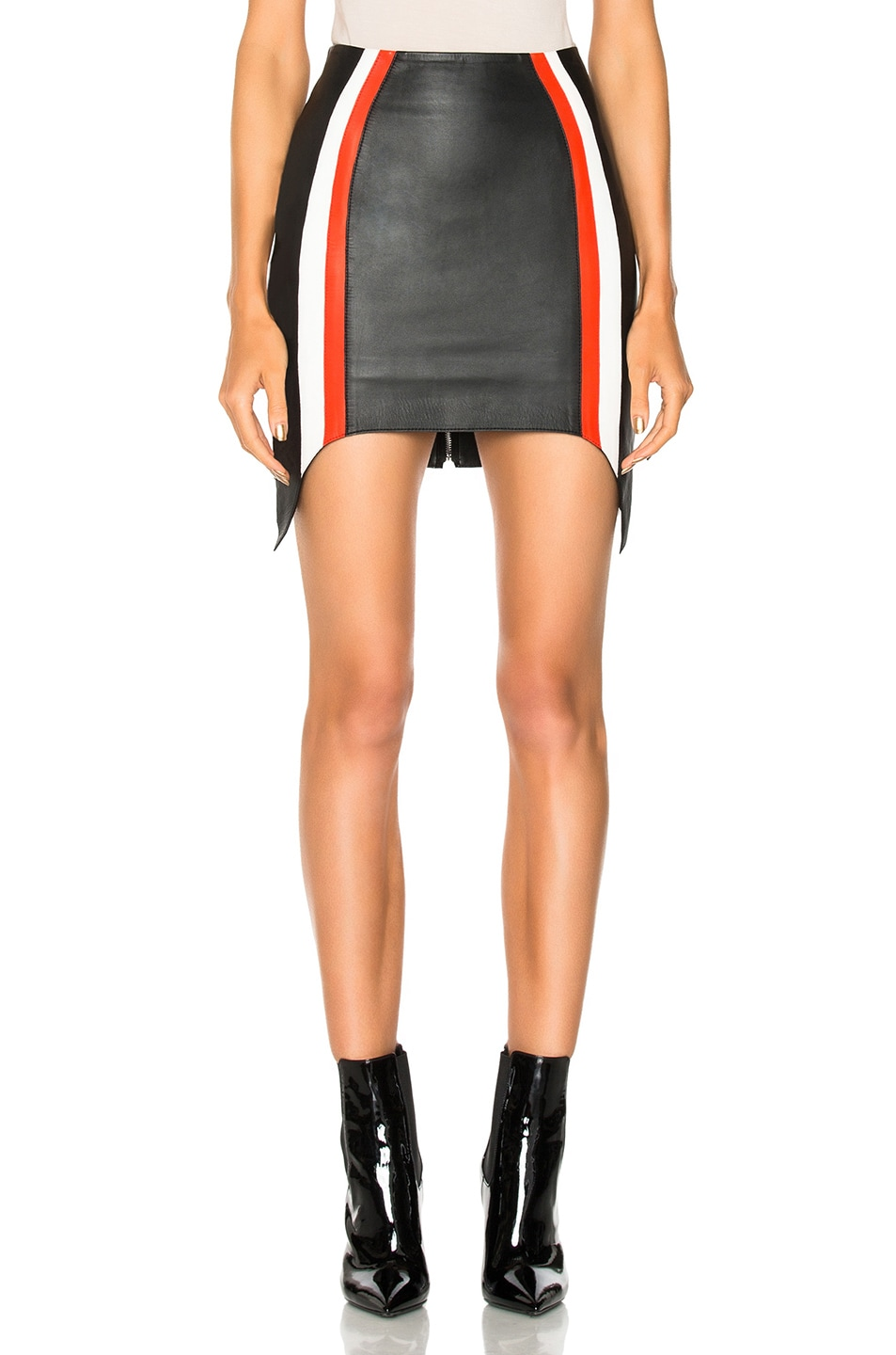 0c0306ad6b6297 Image of mugler soft nappa leather skirt in black emergency red off white  jpg 953x1440 Red