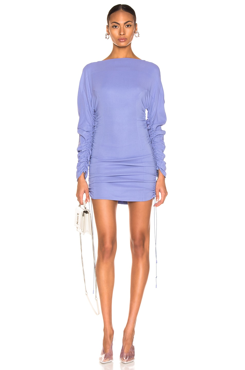 Image 1 of Mugler Long Sleeve Top in Mugler Blue