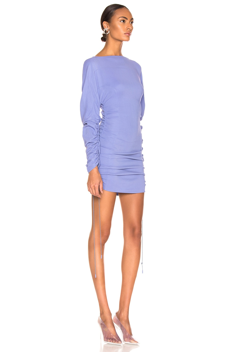 Image 2 of Mugler Long Sleeve Top in Mugler Blue
