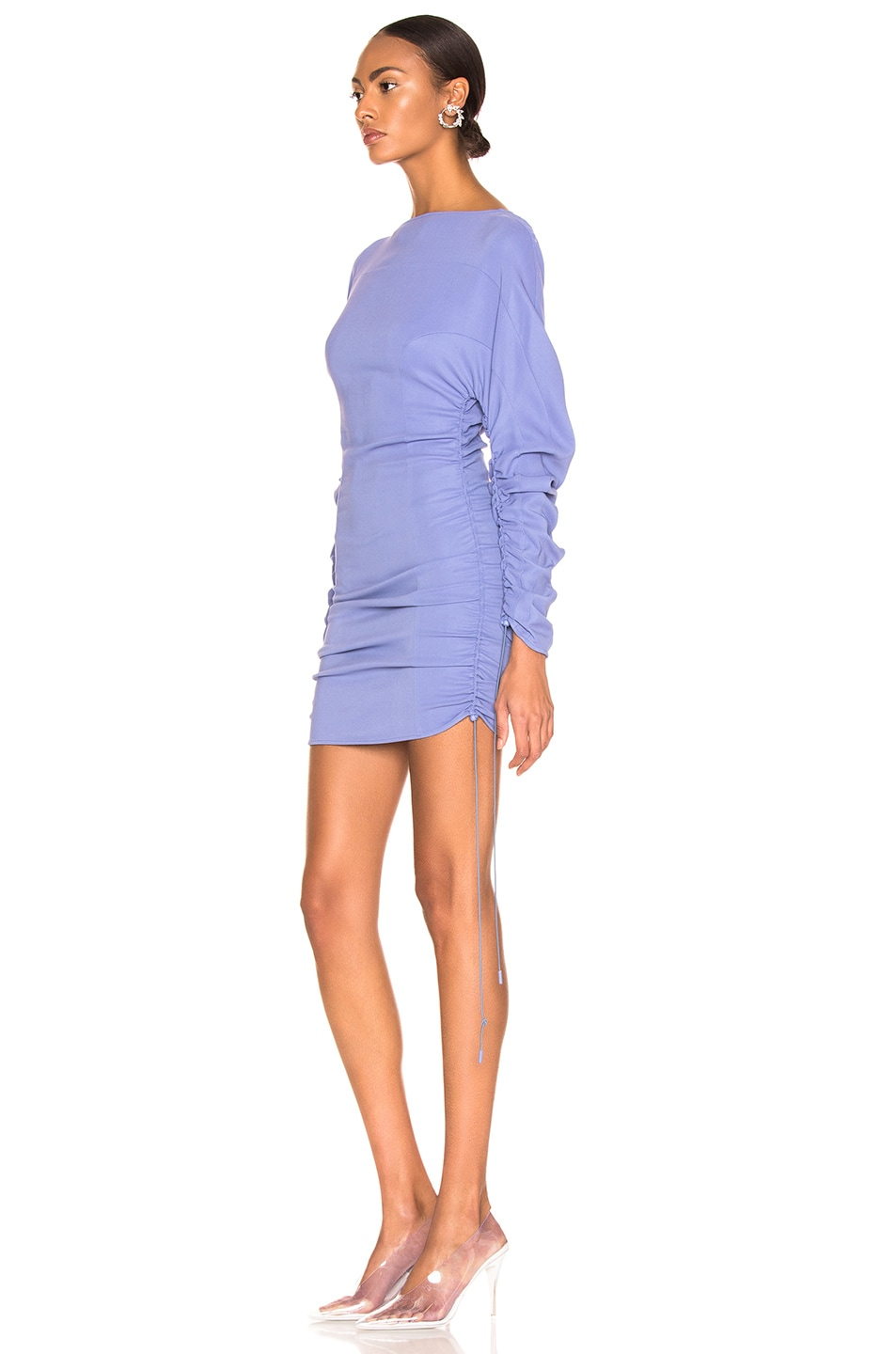 Image 3 of Mugler Long Sleeve Top in Mugler Blue