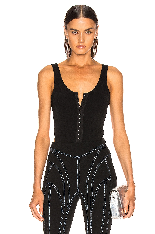 Image 1 of Mugler Hook and Eye Bodysuit in Black
