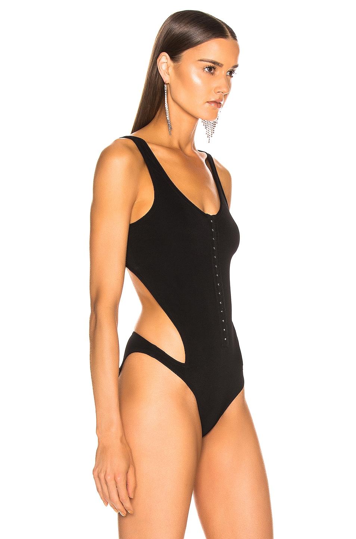Image 3 of Mugler Hook and Eye Bodysuit in Black