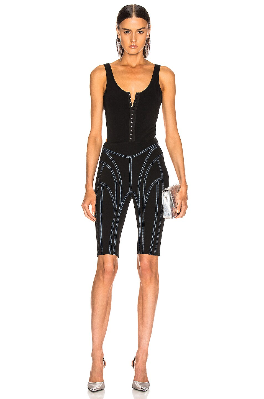 Image 5 of Mugler Hook and Eye Bodysuit in Black
