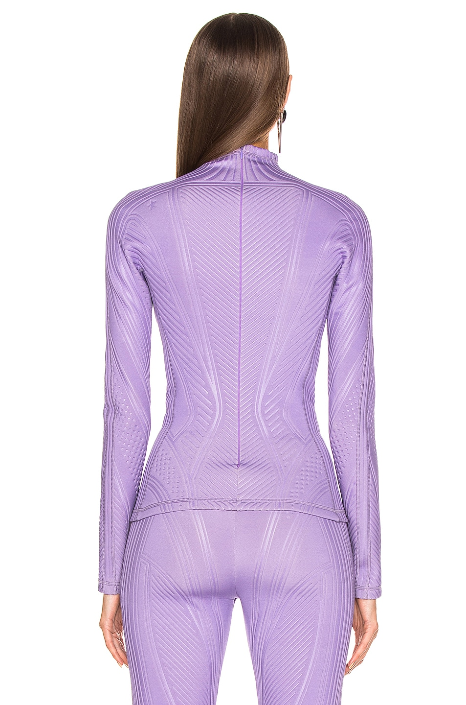 Image 3 of Mugler Long Sleeve Sport Top in Lilac