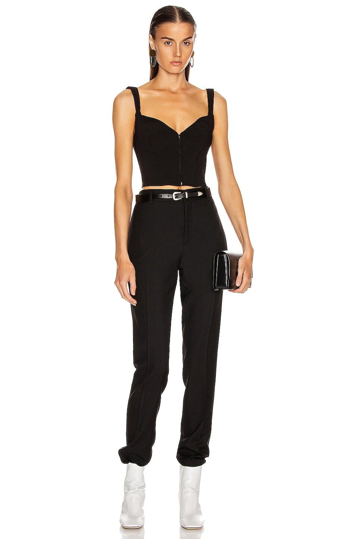 Image 4 of Mugler Zipper Bustier Top in Black
