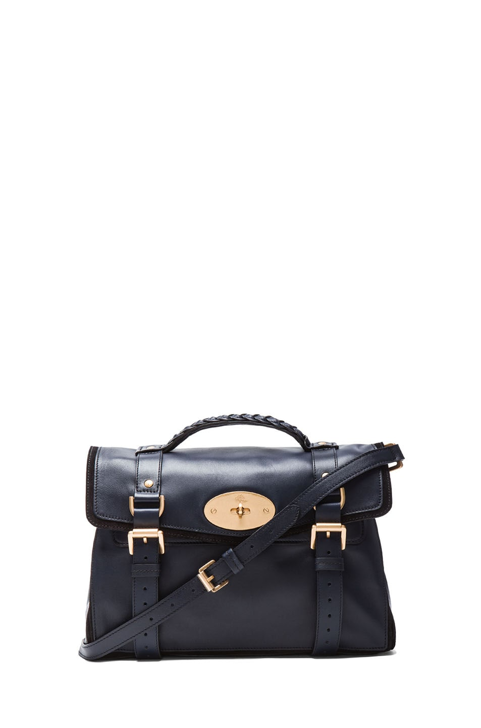 Image 1 of Mulberry Panel Alexa in Midnight Blue & Black