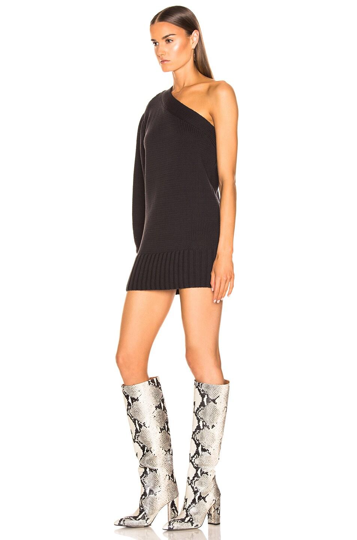 Image 3 of Marissa Webb Laurette One Shoulder Sweater Dress in Ash
