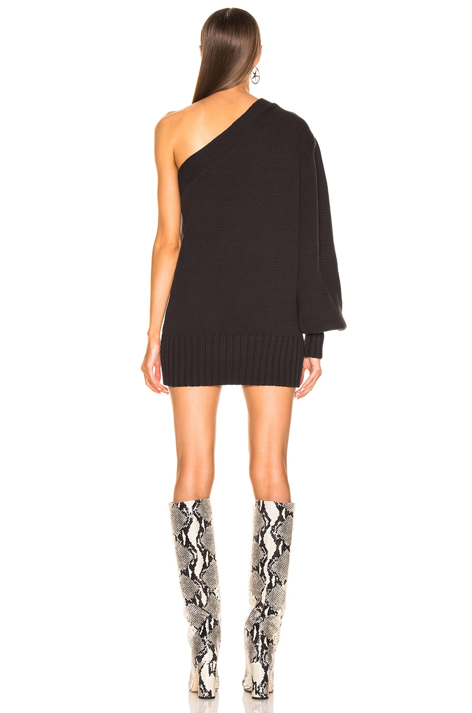 Image 4 of Marissa Webb Laurette One Shoulder Sweater Dress in Ash
