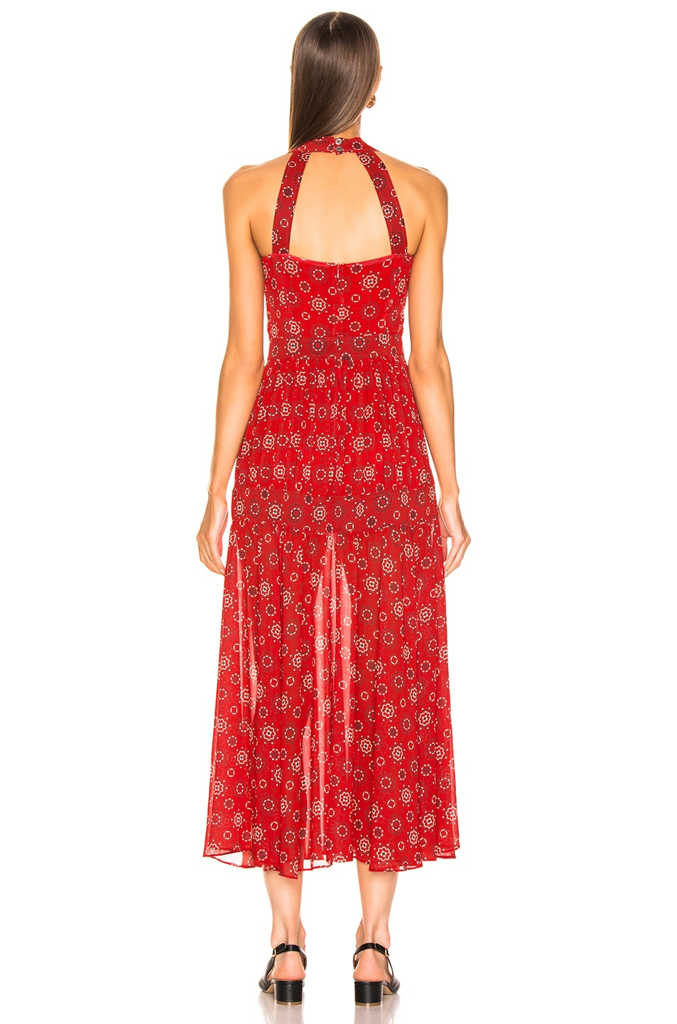 Image 3 of Marissa Webb Seraphina Print Dress in Moroccan Tile Red