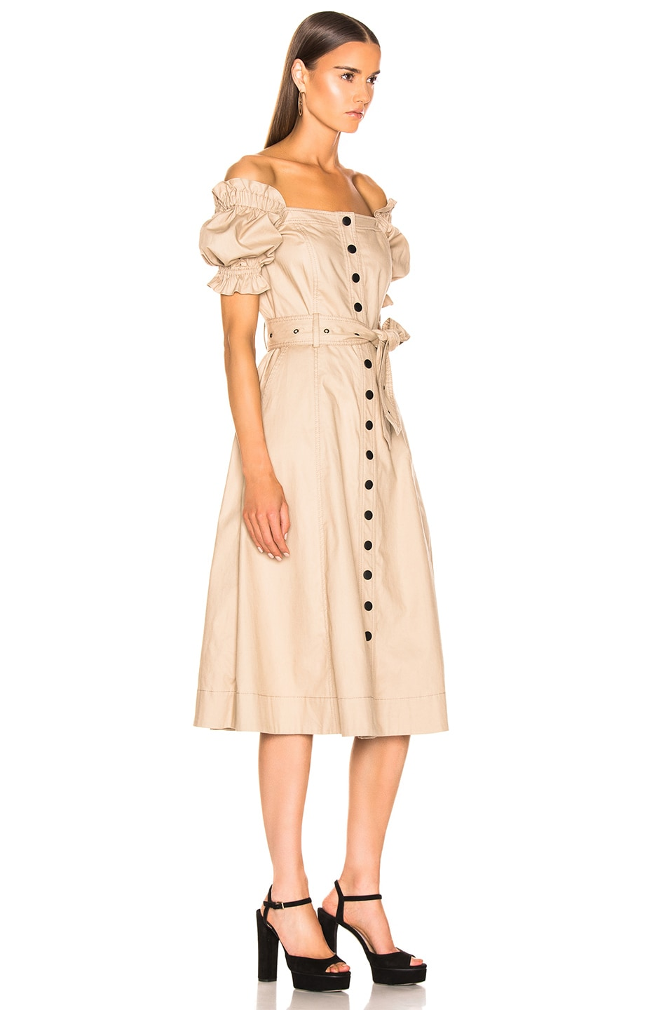 Image 3 of Marissa Webb Charlize Canvas Dress in Sandshell