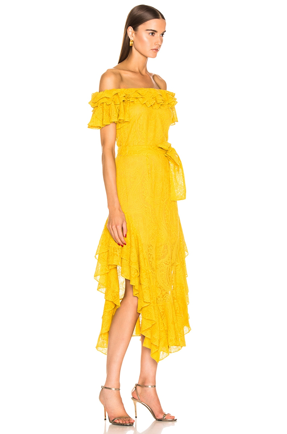 Image 2 of Marissa Webb Sofia Embroidered Dress in Saffron Yellow