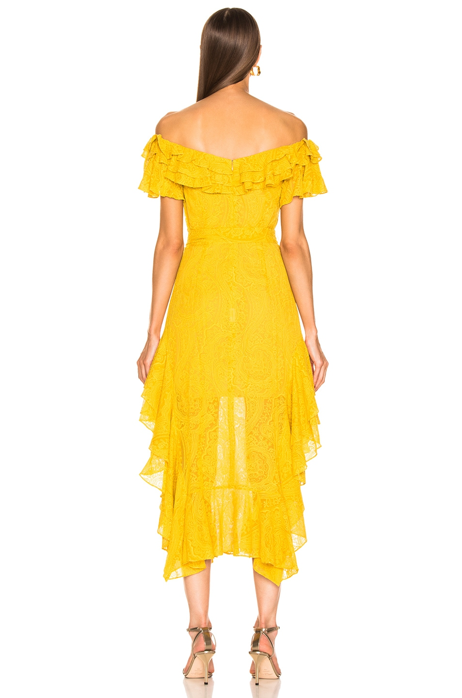 Image 4 of Marissa Webb Sofia Embroidered Dress in Saffron Yellow