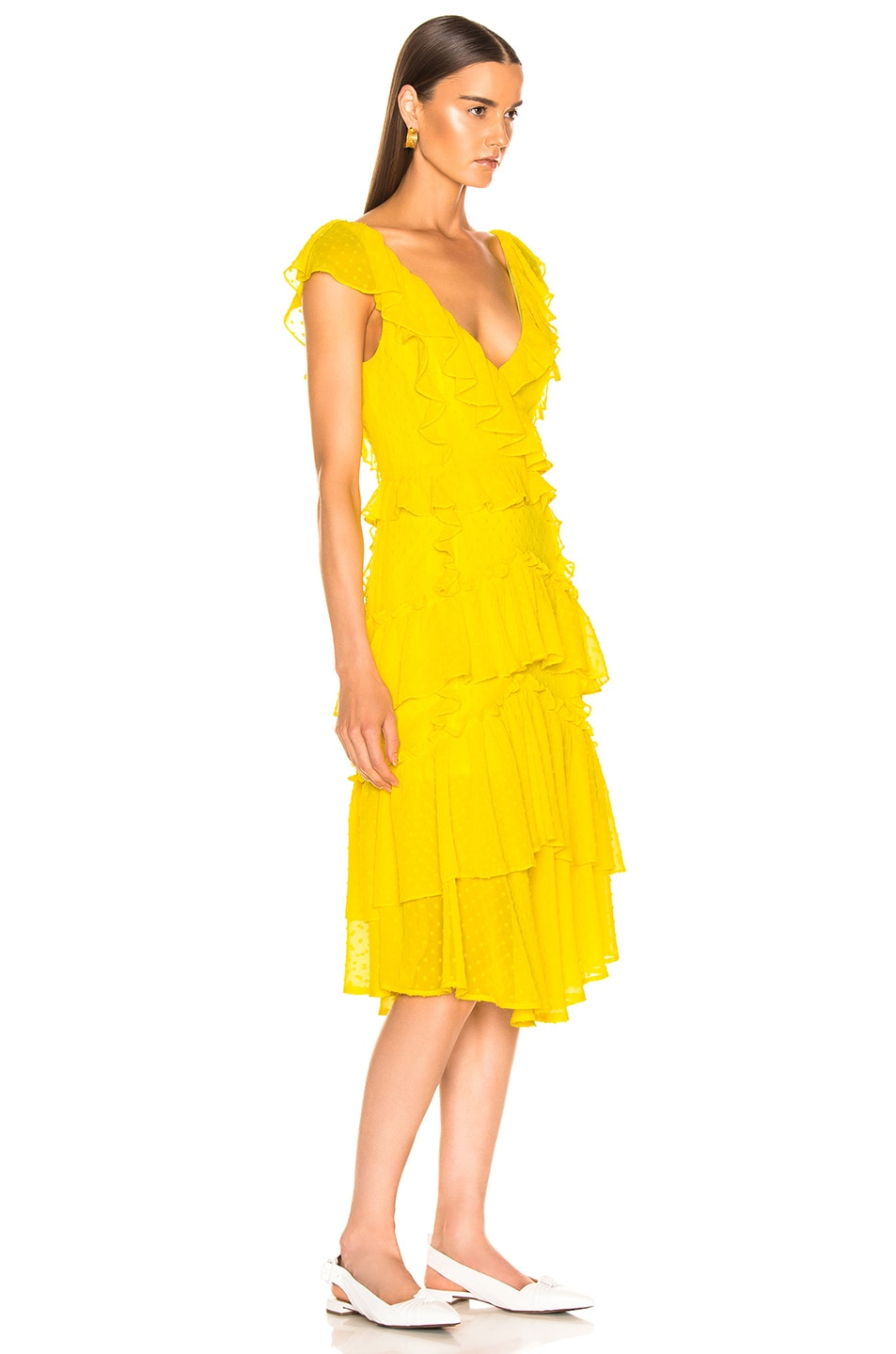 Image 2 of Marissa Webb Dion Dress in Canary Yellow