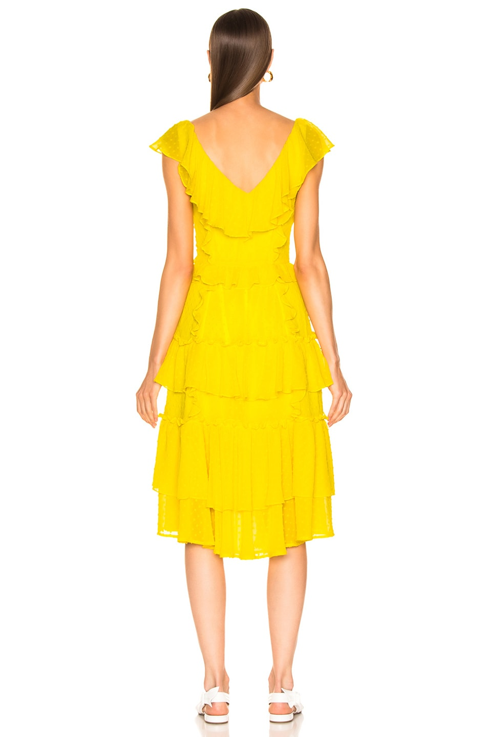 Image 3 of Marissa Webb Dion Dress in Canary Yellow