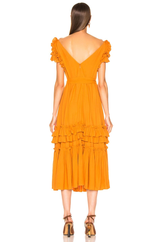 Image 3 of Marissa Webb Elio Crepe Midi Dress in Mojave Yellow
