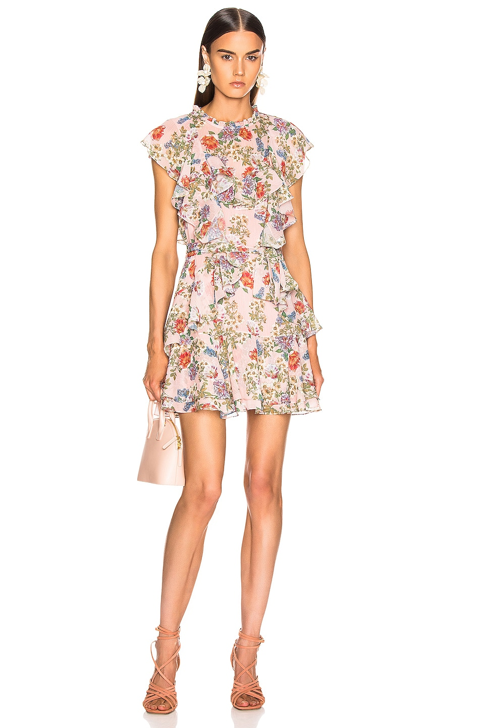 Image 1 of Marissa Webb Sully Mini Dress in Dusty Rose English Bouquet