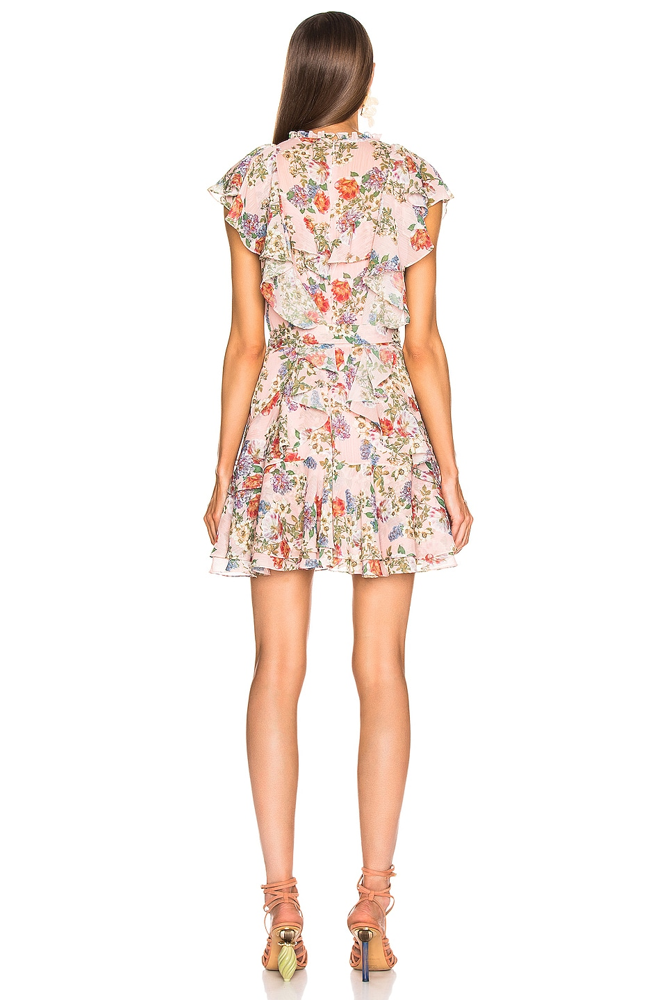 Image 3 of Marissa Webb Sully Mini Dress in Dusty Rose English Bouquet