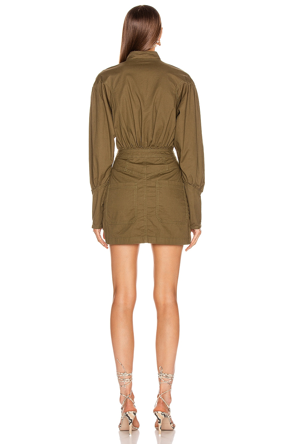 Image 3 of Marissa Webb Spencer Canvas Dress in Forest