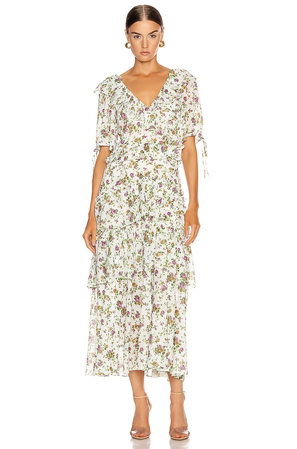 Image 1 of Marissa Webb Deandra Tea Length Dress in Ephrata White