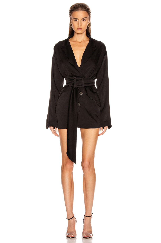 Image 1 of Marissa Webb Cyrus Suit Dress in Black