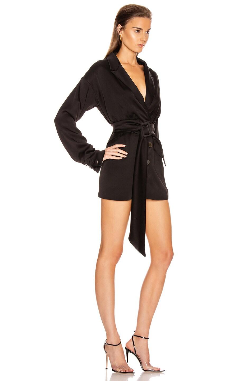 Image 2 of Marissa Webb Cyrus Suit Dress in Black