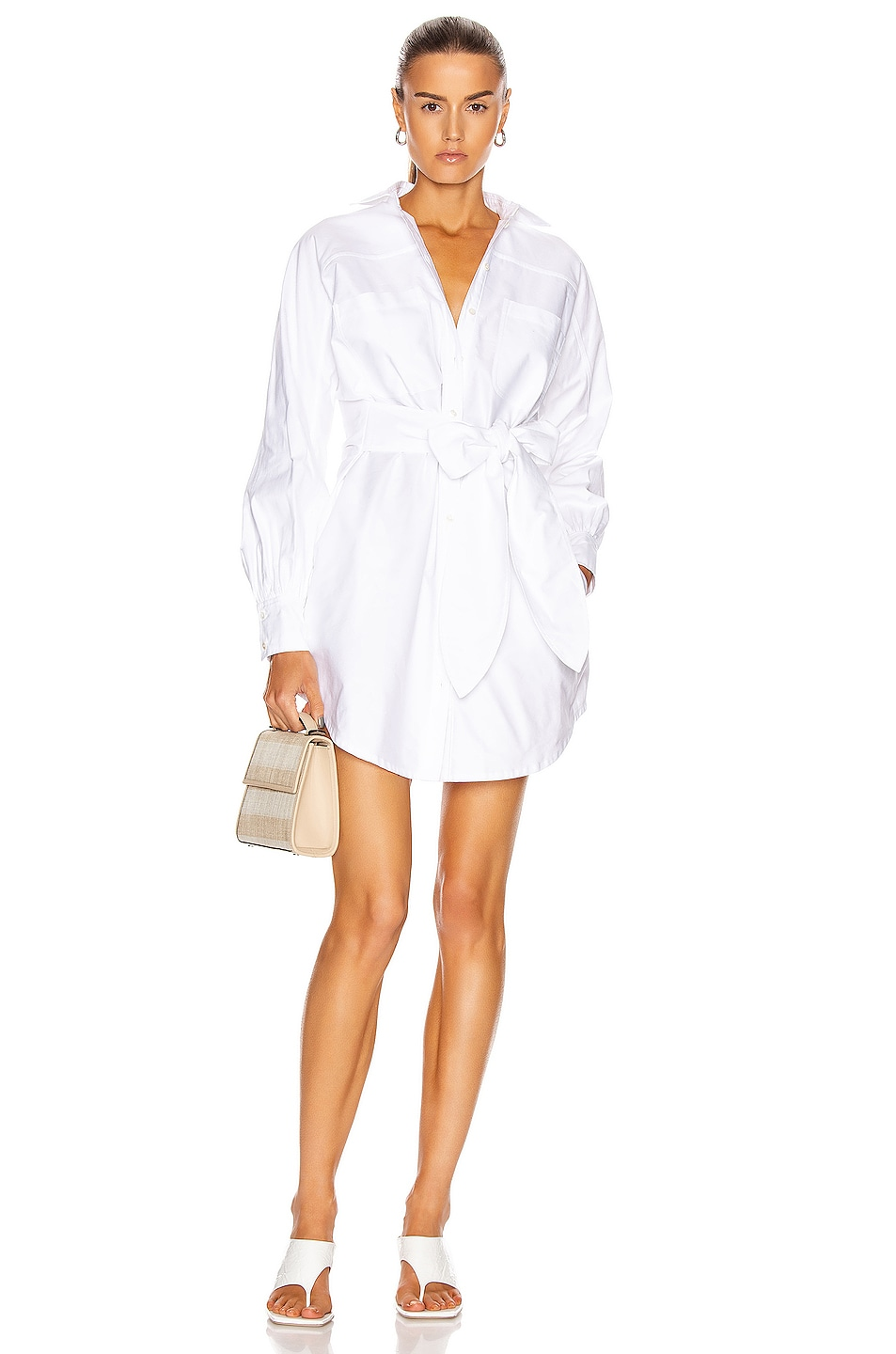 Image 1 of Marissa Webb Emmerson Shirt Dress in White