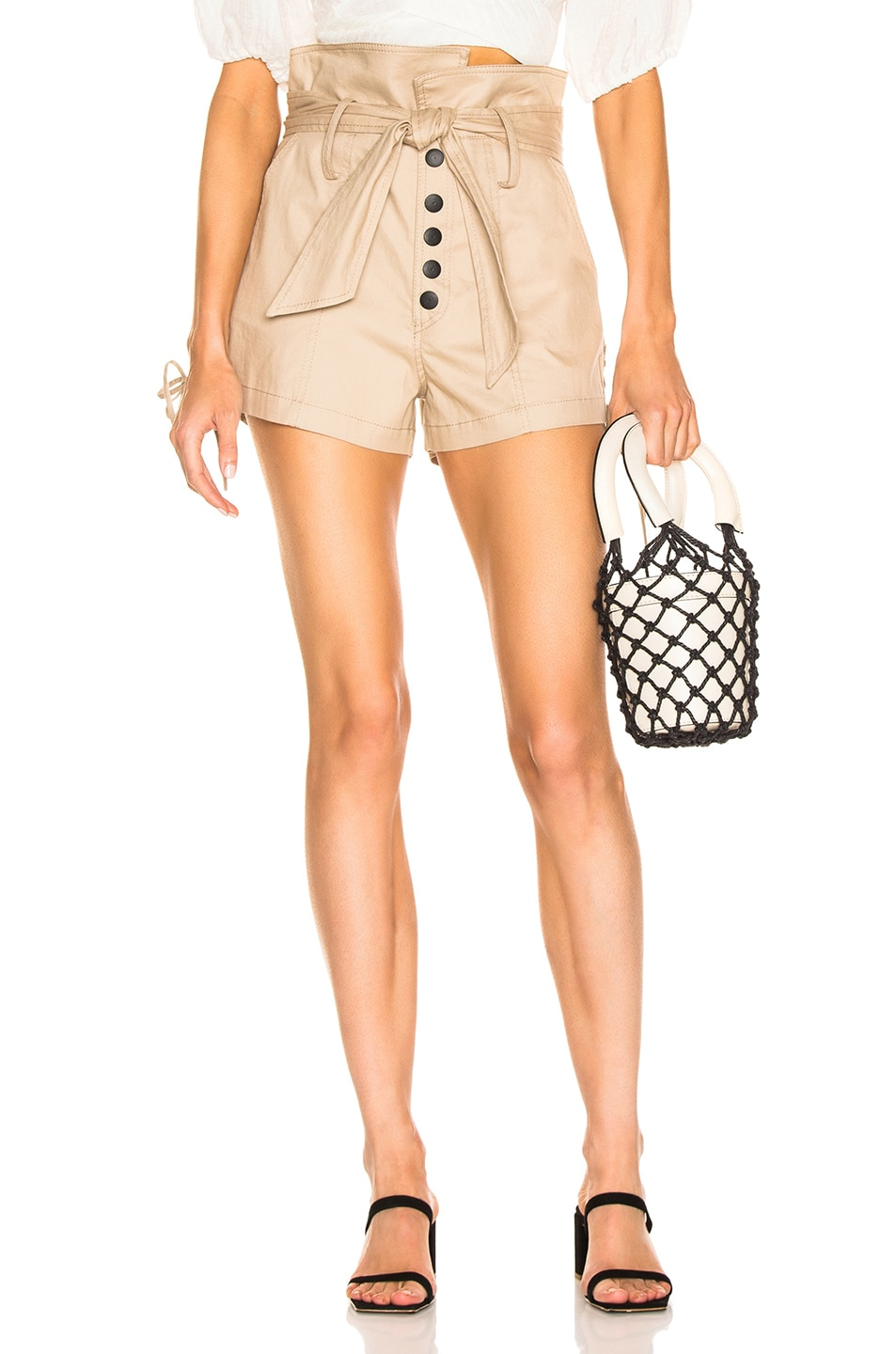 Image 1 of Marissa Webb Gia Canvas Shorts in Sandshell