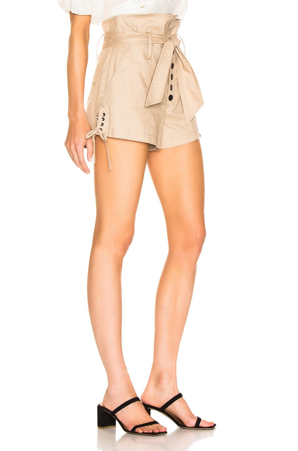 Image 2 of Marissa Webb Gia Canvas Shorts in Sandshell