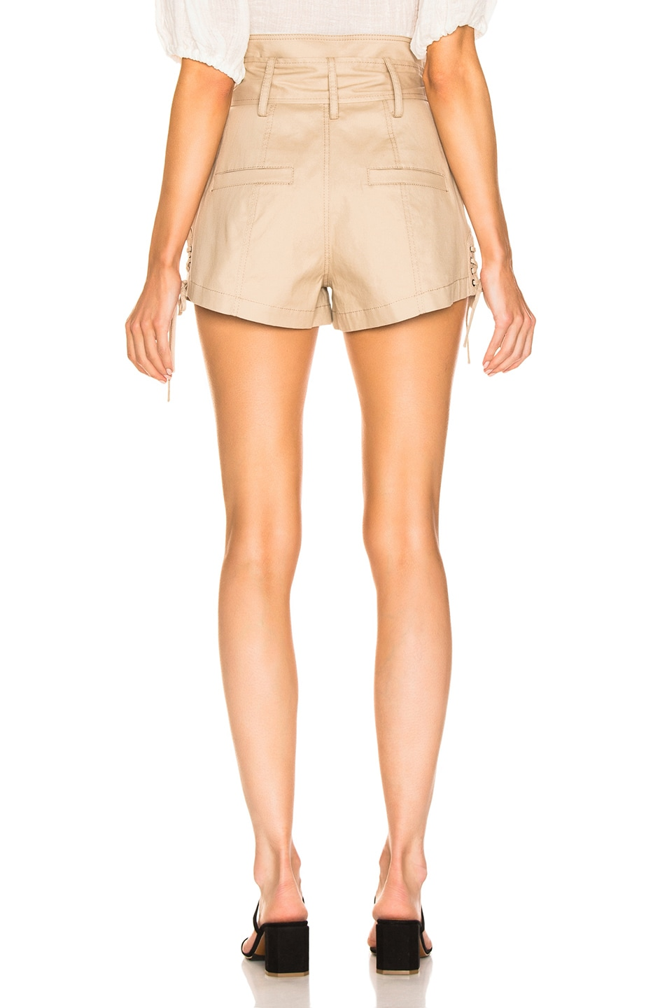 Image 3 of Marissa Webb Gia Canvas Shorts in Sandshell