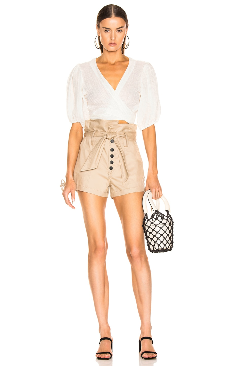 Image 4 of Marissa Webb Gia Canvas Shorts in Sandshell