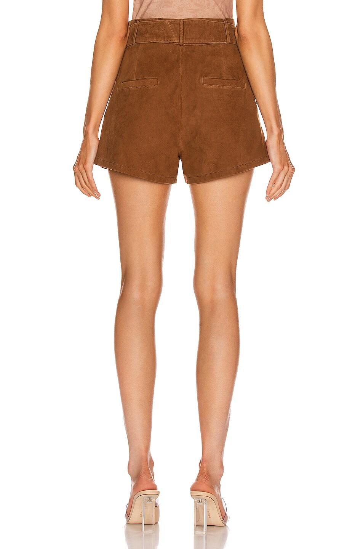Image 3 of Marissa Webb Levi Suede Shorts in Cognac