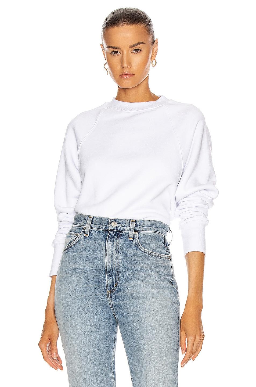 Image 1 of Marissa Webb So Uptight Raglan Sweatshirt in White