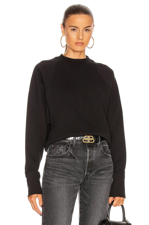 Image 1 of Marissa Webb So Uptight Raglan Sweatshirt in Black
