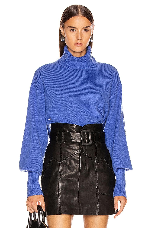 Image 1 of Marissa Webb Sloane Turtleneck Sweater in Periwinkle