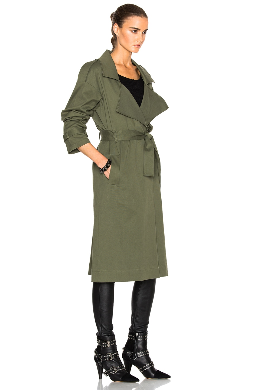 Image 4 of Marissa Webb Corey Canvas Overcoat in Military Green