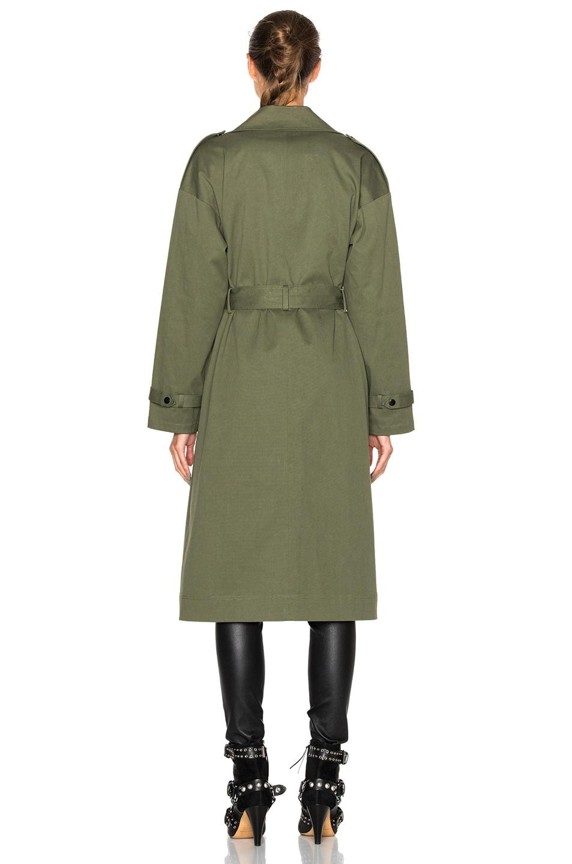 Image 5 of Marissa Webb Corey Canvas Overcoat in Military Green