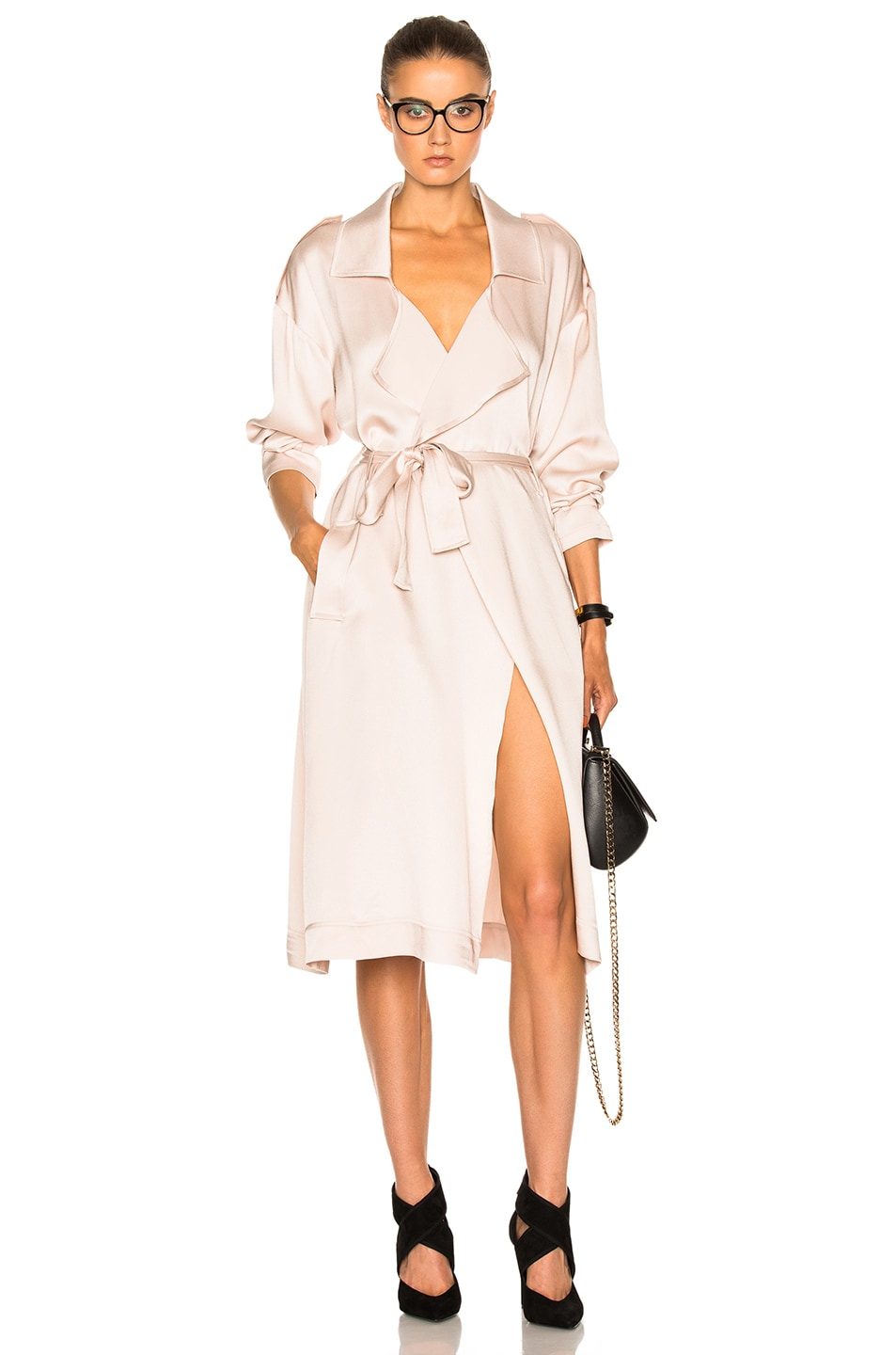 Image 1 of Marissa Webb Corey Satin Crepe Overcoat in Topaz