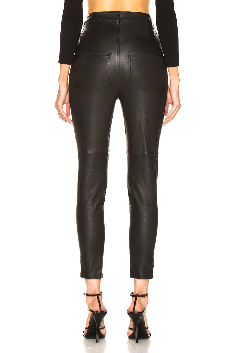 Image 3 of Marissa Webb Alma Stretch Leather Pant in Black
