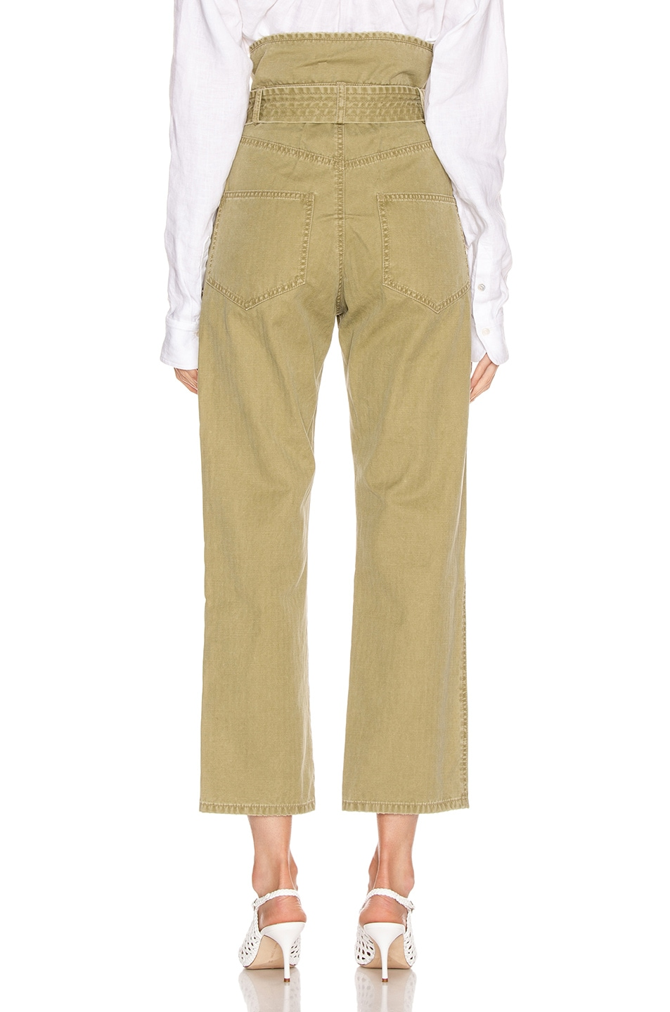 Image 3 of Marissa Webb Travis Heavy Canvas Pant in Khaki Green