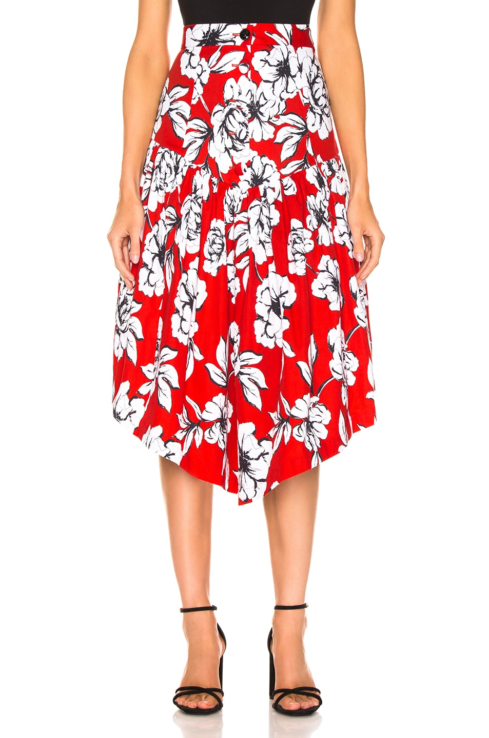 Image 1 of Marissa Webb Oliver Skirt in Peony Cardinal Red