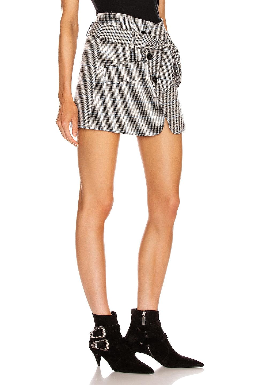 Image 2 of Marissa Webb Katrina Plaid Skirt in Light Grey Combo