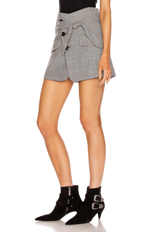 Image 3 of Marissa Webb Katrina Plaid Skirt in Light Grey Combo