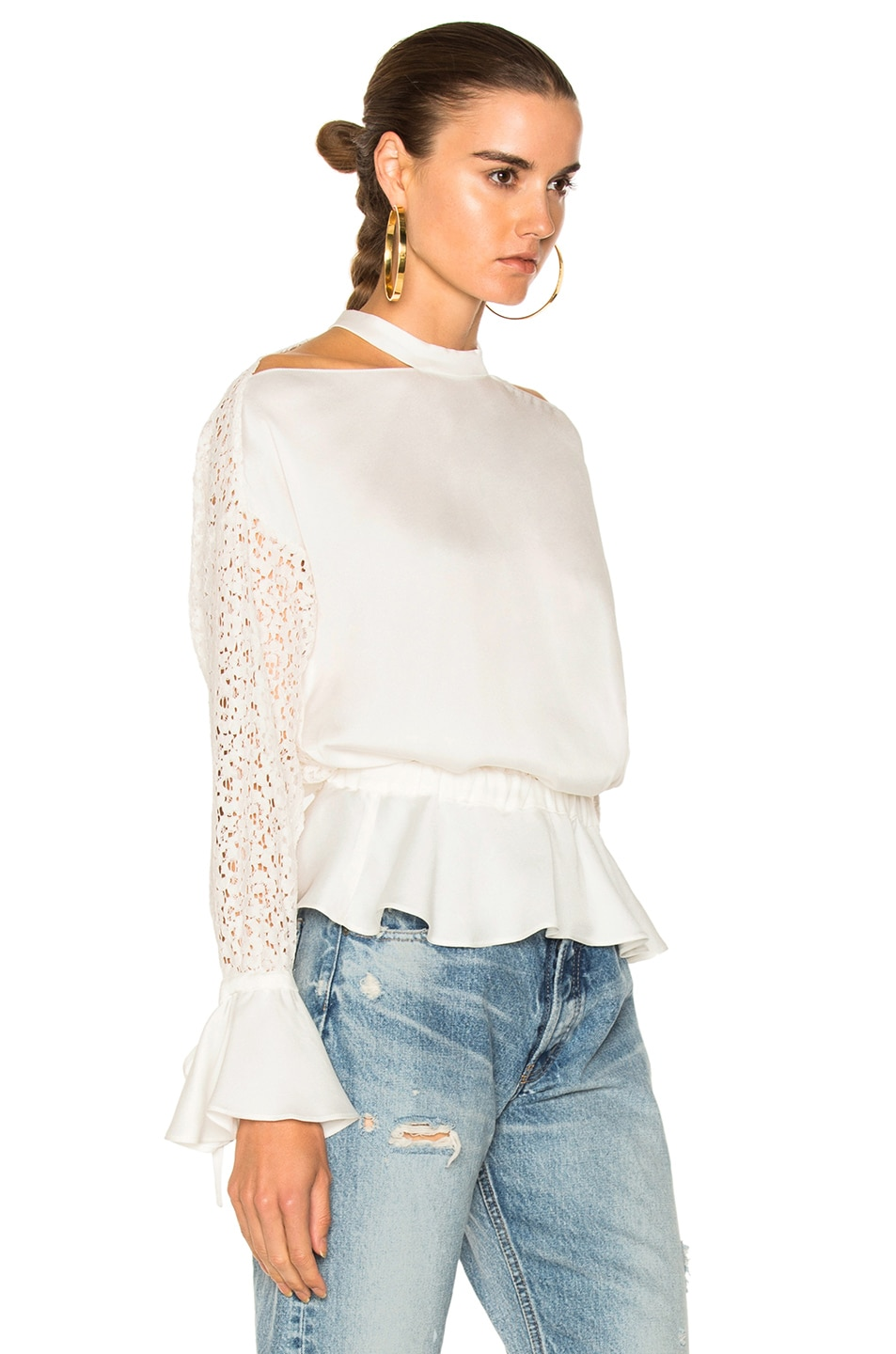 Image 3 of Marissa Webb Sullivan Lace Top in Lace White Combo