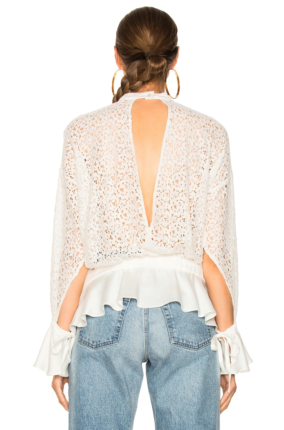 Image 4 of Marissa Webb Sullivan Lace Top in Lace White Combo